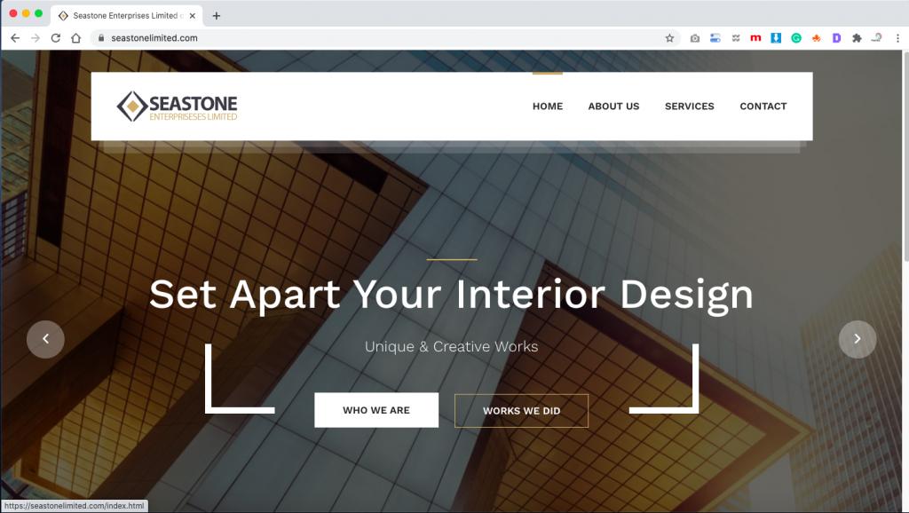 Seastone Enterprises Limited wesbite designed by kanatech